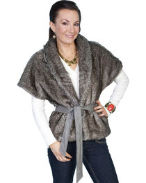Scully Faux Fur Cropped Shawl Jacket, , hi-res