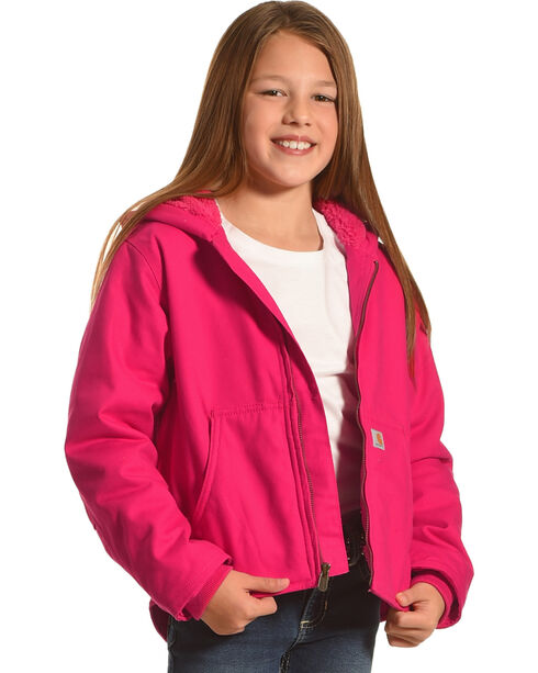Carhartt Girls' Pink (XXS-S) Redwood Sherpa-Lined Jacket , Pink, hi-res