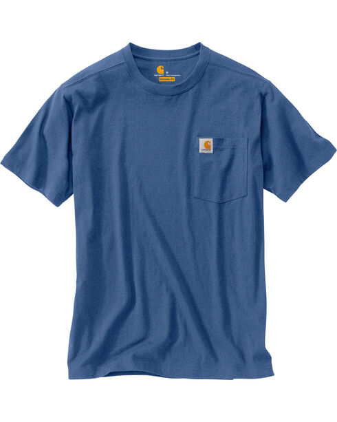 Carhartt Maddock Pocket Short Sleeve Shirt - Big & Tall, Blue, hi-res