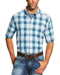 Ariat Men's Aqua Nevil Short Sleeve Shirt , , hi-res