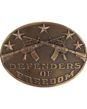 Cody James® Defenders of Freedom Buckle, Bronze, hi-res