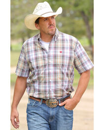 Cinch Men's Multi Plain Weave Short Sleeve Shirt , , hi-res
