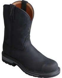 Twisted X Black Lite Cowboy Work Boots - Steel Toe , , hi-res