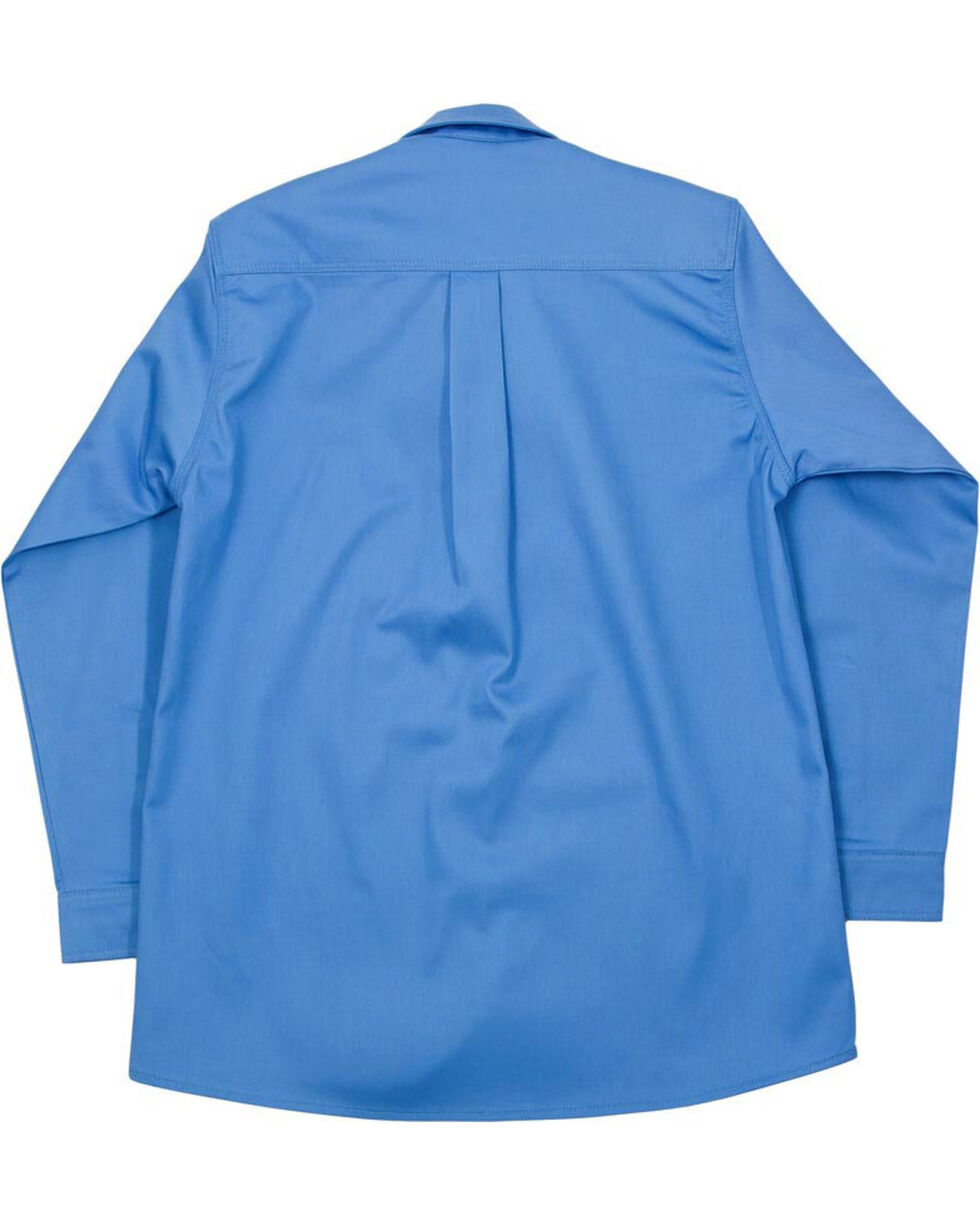 Lapco Men's Blue FR Uniform Shirt, Blue, hi-res