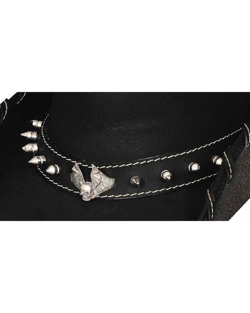 Bullhide Iron Road Leather Hat, Black, hi-res