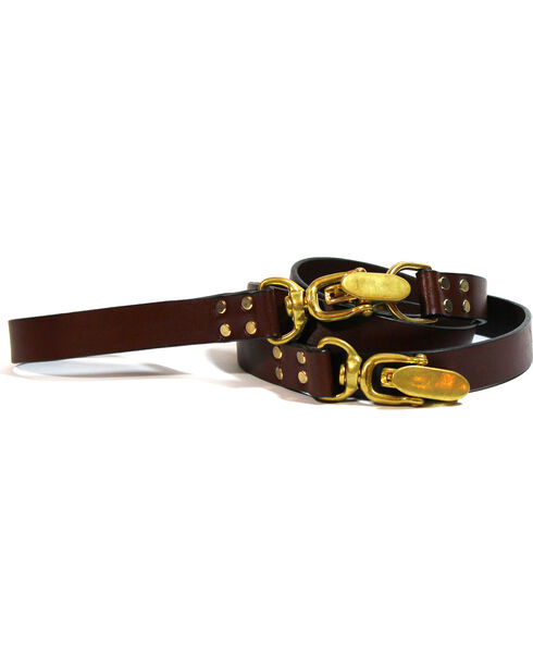 SouthLife Supple Leather Dog Check Lead, Chocolate, hi-res