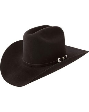 Resistol 7X Fur Felt Hat, Black, hi-res