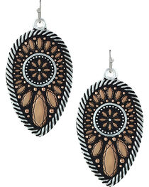 Montana Silversmiths Sunset Prairie Clover Earrings , , hi-res