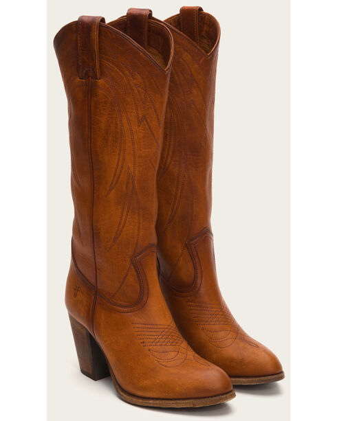 Frye Women's Cognac Ilana Pull On Boots - Medium Toe , Cognac, hi-res