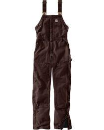 Carhartt Women's Weathered Duck Wildwood Bib Overalls , , hi-res