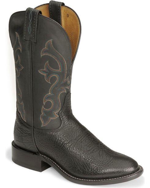 """Tony Lama Men's Americana Signature Conquistador 11"""" Western Boots, Black, hi-res"""