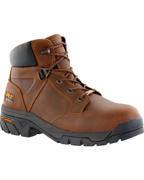 Timberland Pro Men's Helix Waterproof Safety Toe Boots, Brown, hi-res