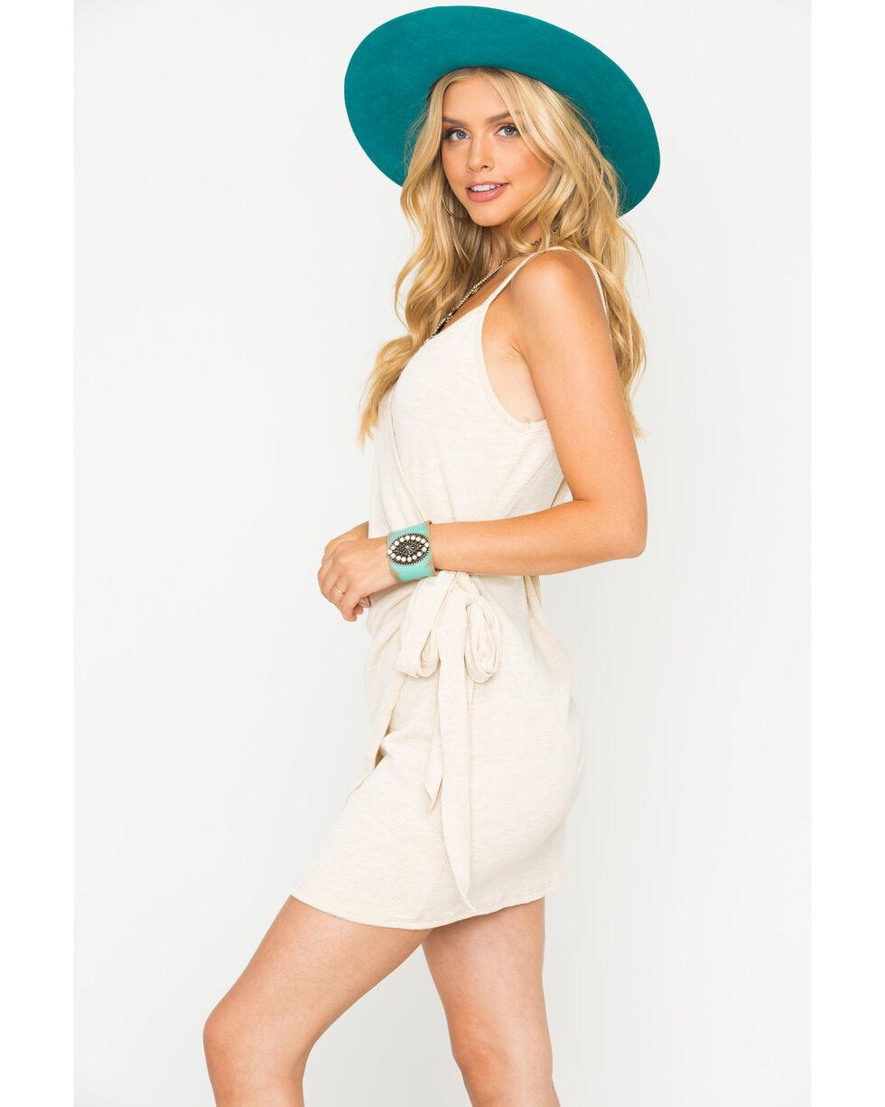 Sage the Label Women's Natural Carmel Wrap Dress , Natural, hi-res