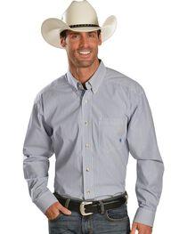 Ariat Balin Blue Stripe Long Sleeve Shirt - Big & Tall, , hi-res