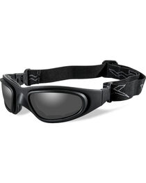 Wiley X SG-1 V-Cut Matte Black Adjustable Strap Sunglasses   , , hi-res