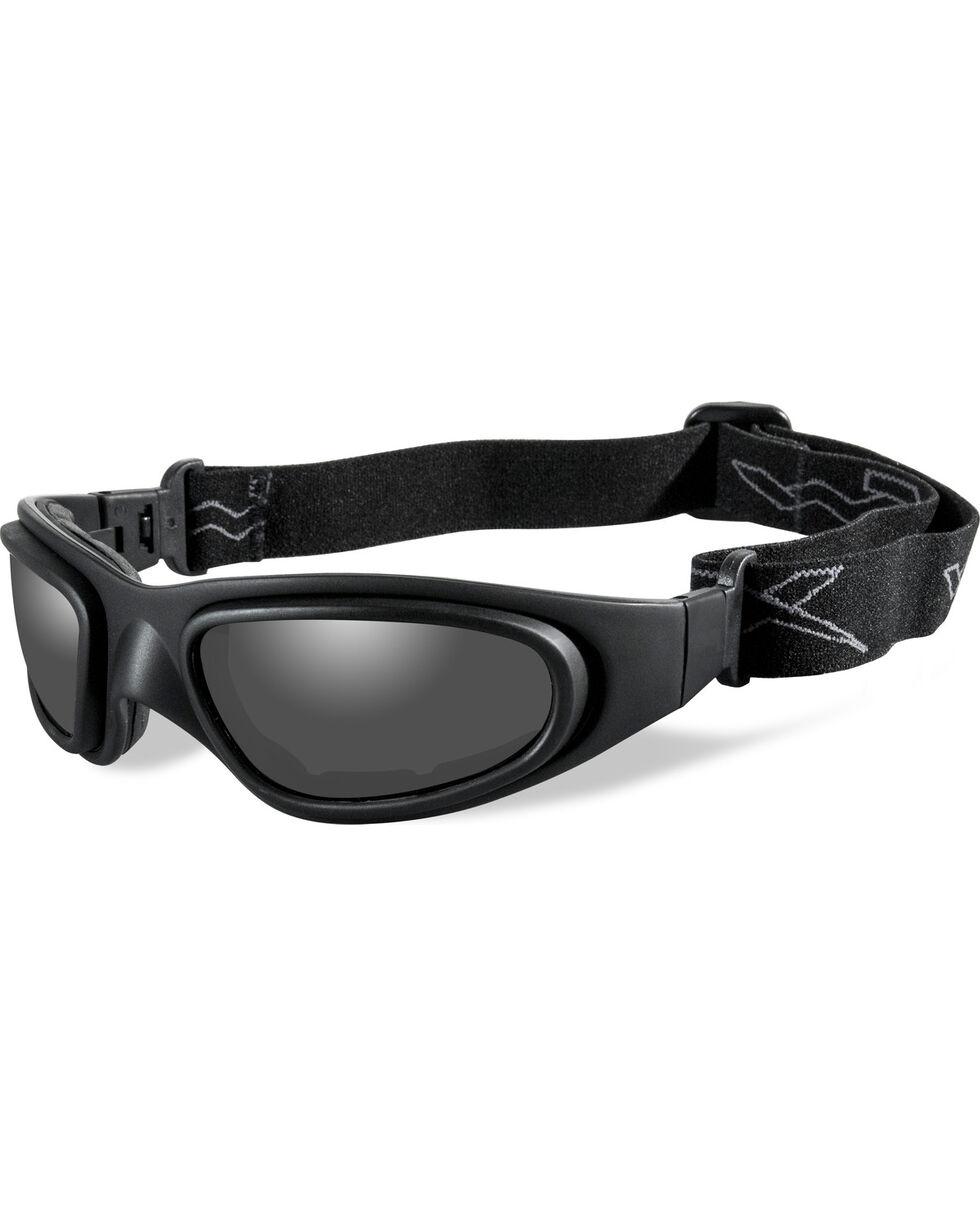 Wiley X SG-1 V-Cut Matte Black Adjustable Strap Sunglasses   , Black, hi-res
