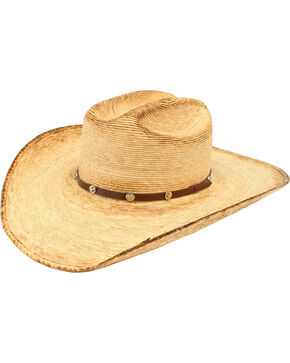 Ariat Double S Fired Palm Straw Hat, Natural, hi-res