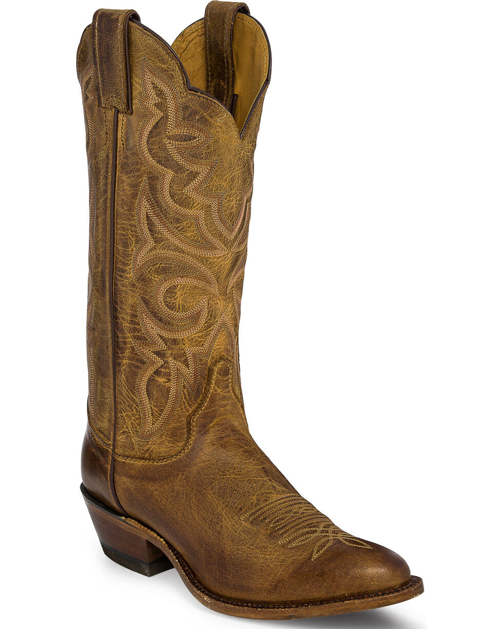 Justin Bent Rail Women's Cowhide Western Boots, Tan, hi-res