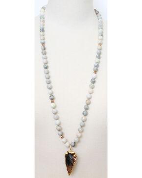 Everlasting Joy Women's Jade Glam Arrow Necklace, No Color, hi-res