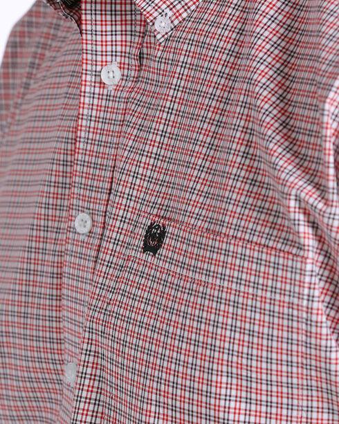 Cinch Men's Plaid Short Sleeve Button Down Shirt - Big , White, hi-res