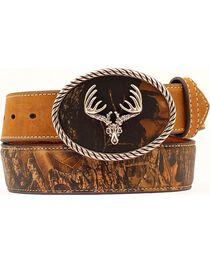 Nocona Camo Leather Belt, , hi-res