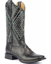Roper Women's Native Marbled Cowgirl Boots - Square Toe, , hi-res