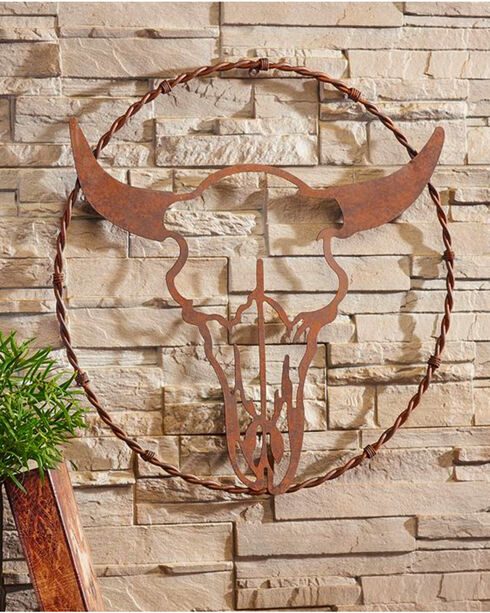 Giftcraft Metal Bull Head Design Wall Decor , No Color, hi-res