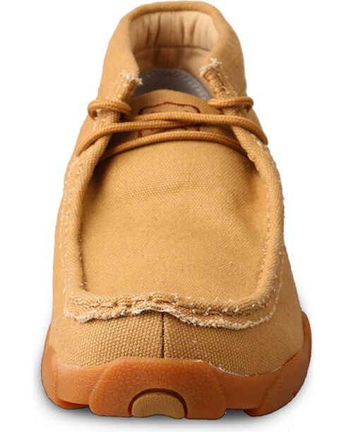 Twisted X Men's Canvas Driving Moc Casual Shoes, Tan, hi-res