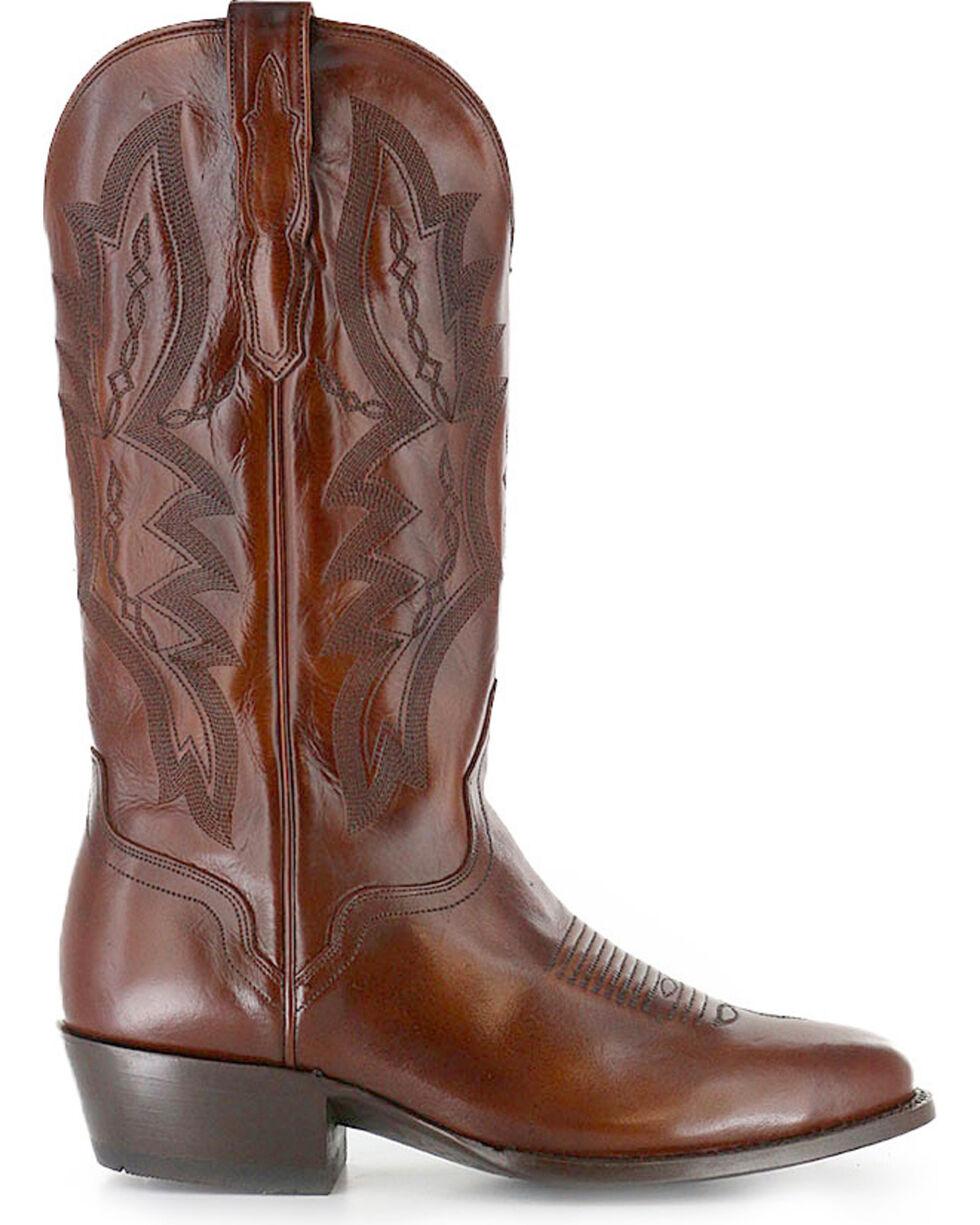 El Dorado Men's Vanquished Calf Western Boots, Tan, hi-res