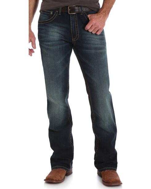 Wrangler 20X Men's No. 42 Wild Horse Vintage Slim Fit Jeans - Boot Cut, Indigo, hi-res