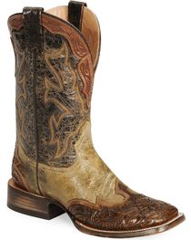 Stetson Men's Handtooled Western Boots, , hi-res