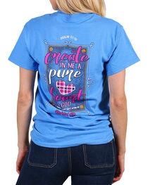 Cherished Girl Women's Blue Create In Me Tee , Blue, hi-res