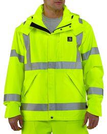 Carhartt Men's High Visibility Class 3 Waterproof Jacket, , hi-res