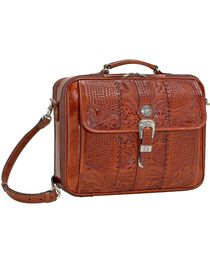 American West Retro Romance Laptop Briefcase, Mocha, hi-res