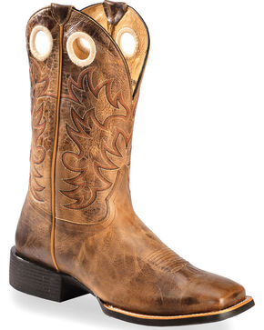 Cody James Xero Gravity Men's Knoxville Embroidered Western Boots - Square Toe, Brown, hi-res