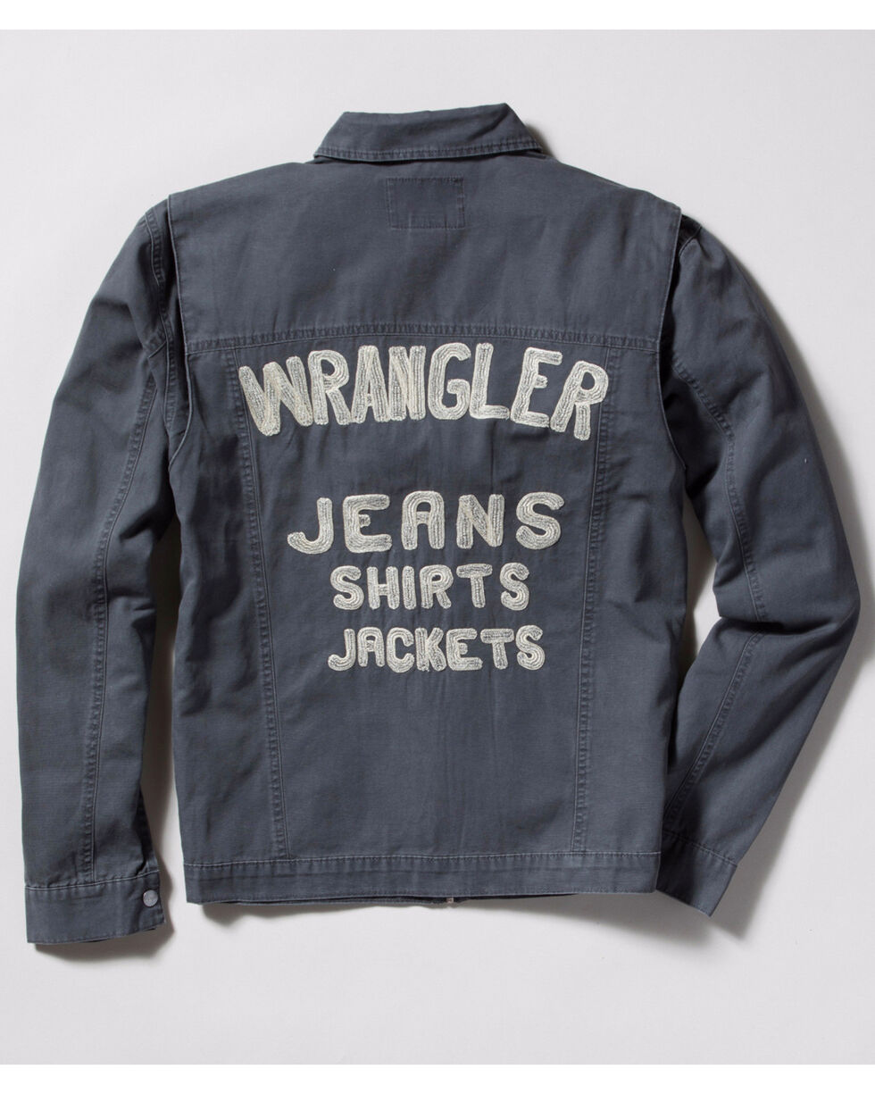 Wrangler Men's Vintage Inspired Canvas Jacket, Grey, hi-res