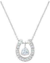 Montana Silversmiths Women's Treasured Trillion Necklace, , hi-res