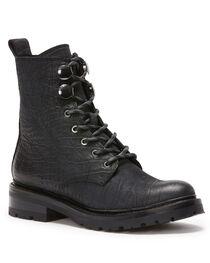 Frye Women's Black Julie Hook Combat Boots - Round Toe, , hi-res