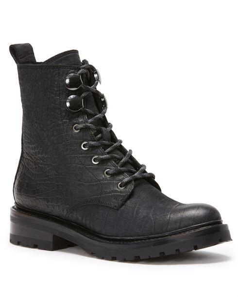 Frye Women's Black Julie Hook Combat Boots - Round Toe, Black, hi-res