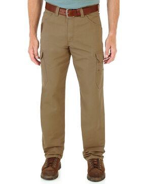 Wrangler Men's Vantage Ripstop Cargo Pants, Brown, hi-res