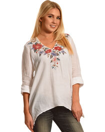Johnny Was Women's White Cecily Asymmetrical Tunic , , hi-res