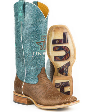 Tin Haul Women's Aztek Western Boots, Brown, hi-res