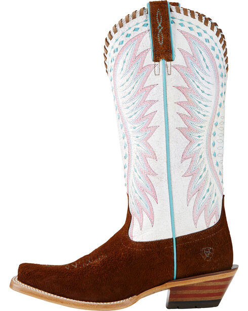 Ariat Women's Derby Western Boots, Brown, hi-res