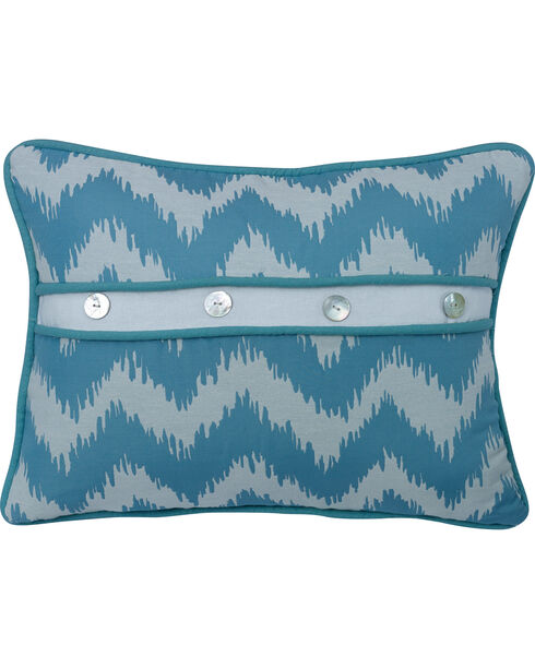 "HiEnd Accents Chevron Print Pillow, 16""X21"", Multi, hi-res"
