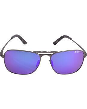 BEX Men's Ranger Square Aviator Polarized Sunglasses, Dark Grey, hi-res