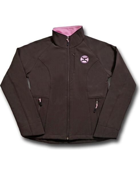 Hooey Women's Brown Fleece Lined Jacket , Brown, hi-res