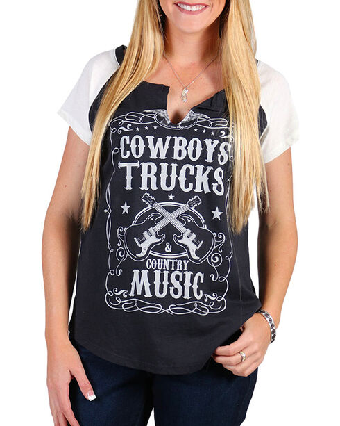 Signorelli Women's Country Music Graphic Tee , Charcoal, hi-res