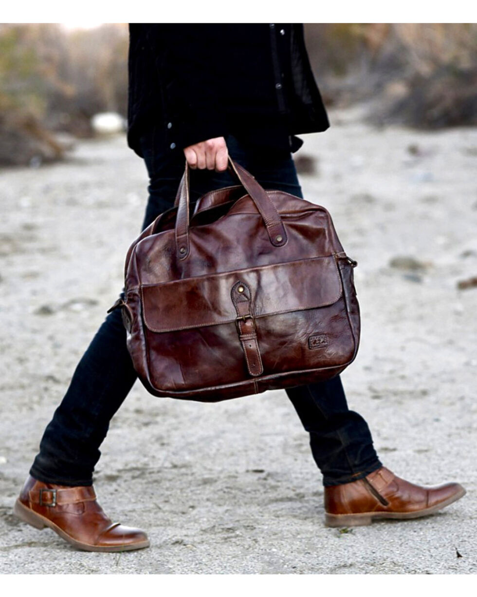Bed Stu Men's Nigel Teak Rustic Messenger Bag, Dark Brown, hi-res