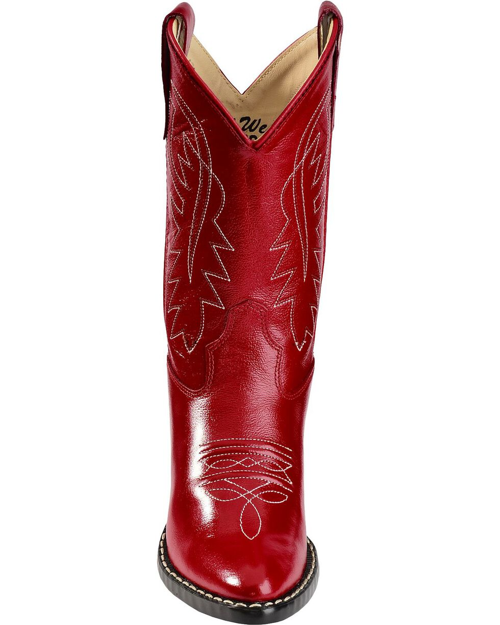 Jama Children's Western Boots, Red, hi-res