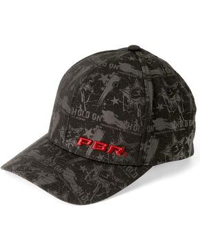 PBR Hold On Black Flexfit Cap, Black, hi-res